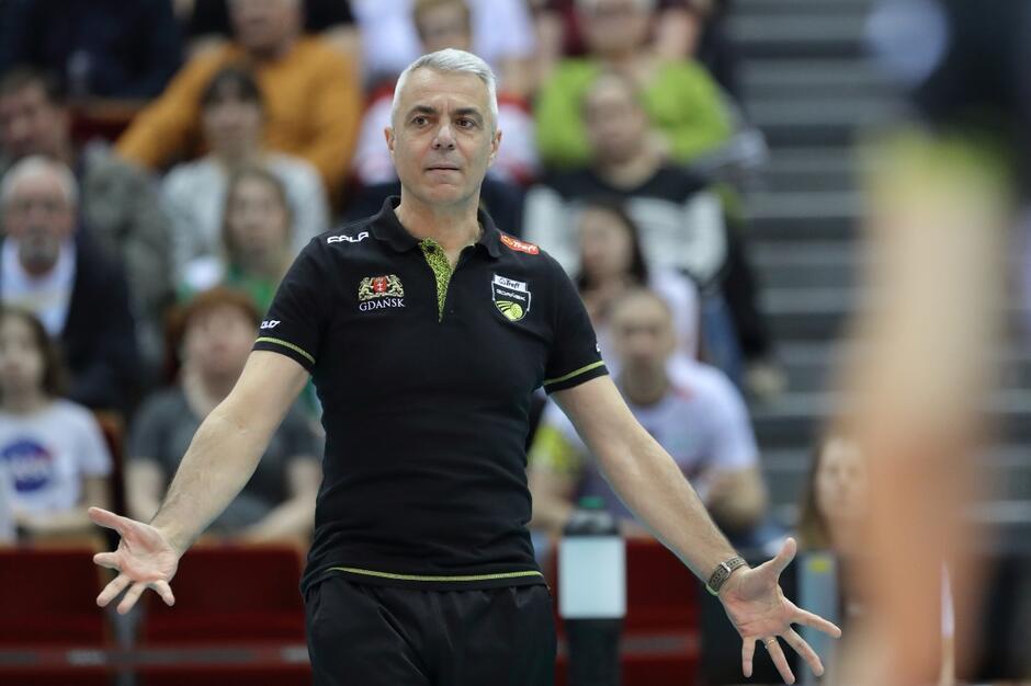 Trener Trefla Andrea Anastasi - Fot. Grzegorz Mehring