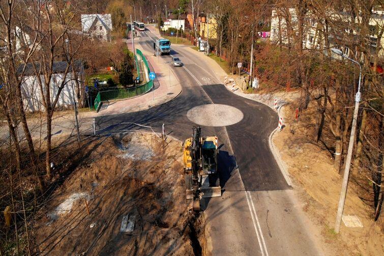 Nowe rondo powstające na skrzyżowaniu ulic Turystycznej i Przegalińskiej