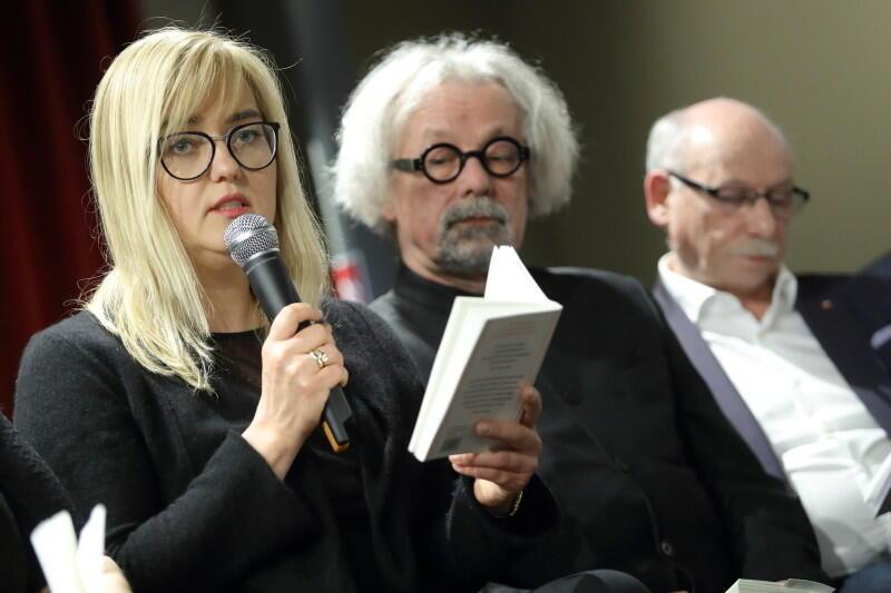Magdalena Adamowicz gościła w piątek w Oliwskim Ratuszu Kultury. Wraz z innymi gośćmi odczytała fragmenty eseju O tyranii