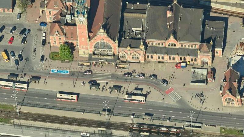 Okolice Dworca Głównego PKP w Gdańsku