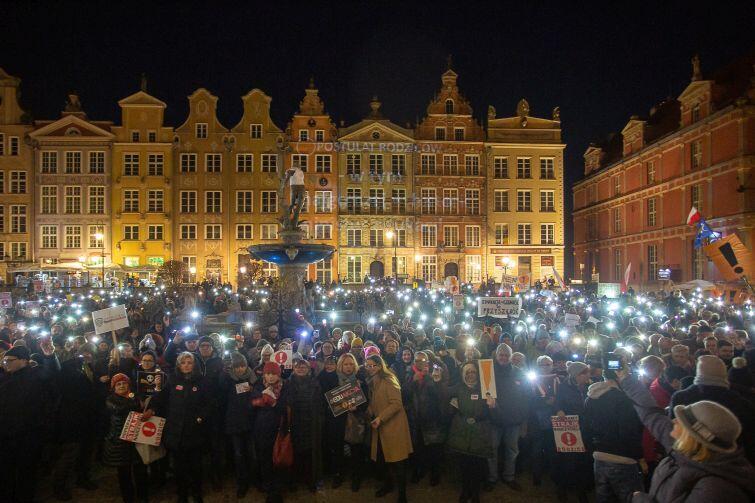 Demonstracja w Gdańsku zgromadziła kilkaset osób
