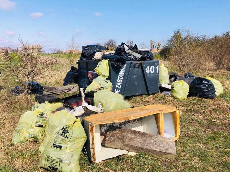 To tylko część śmieci, które zebrano w trakcie sobotniej akcji sprzątania Olszynki