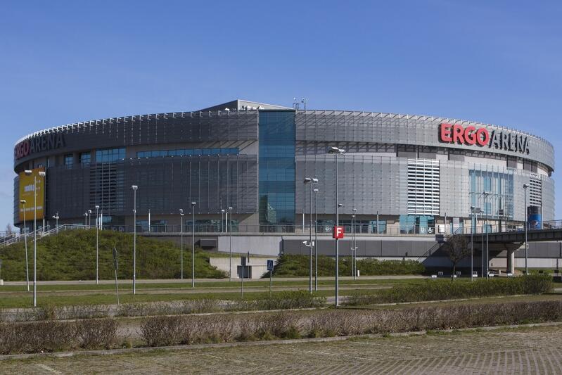 Hala widowiskowa ERGO Arena na granicy Gdańska i Sopotu. To tutaj odbędzie się 1- majowy koncert `Zjednoczeni w różnorodności – 15 lat Polski w UE`