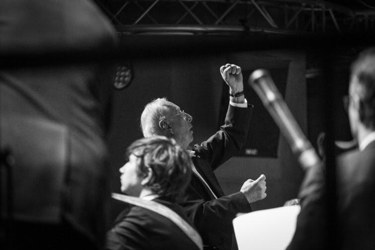 William Christie podczas występu z Les Arts Florissants na Actus Humanus Resurrectio 2019
