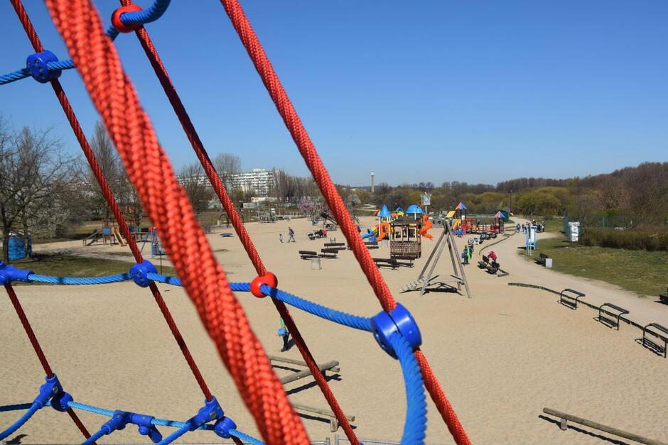 Widok z linarium na plażę