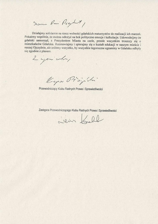 apel do p. A. Dulkiewicz w sprawie klasyfikacji uczniów 2
