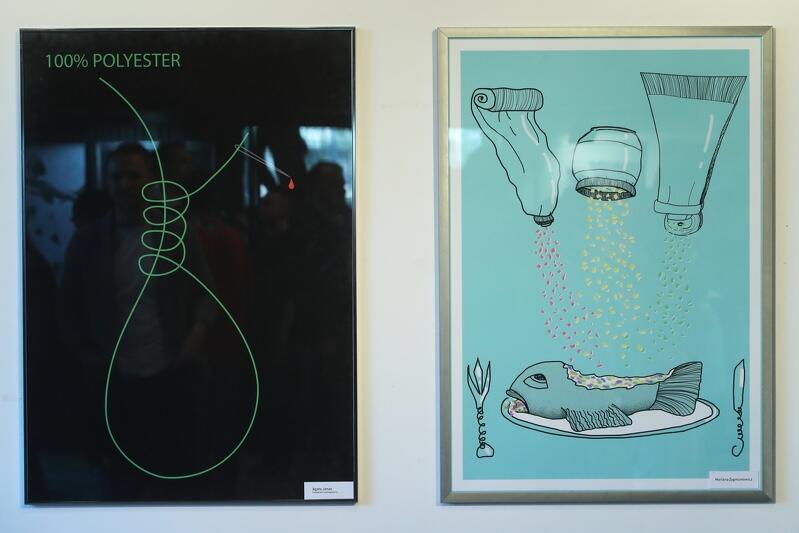 Przykłady plakatów, które znalazły się na wystawie