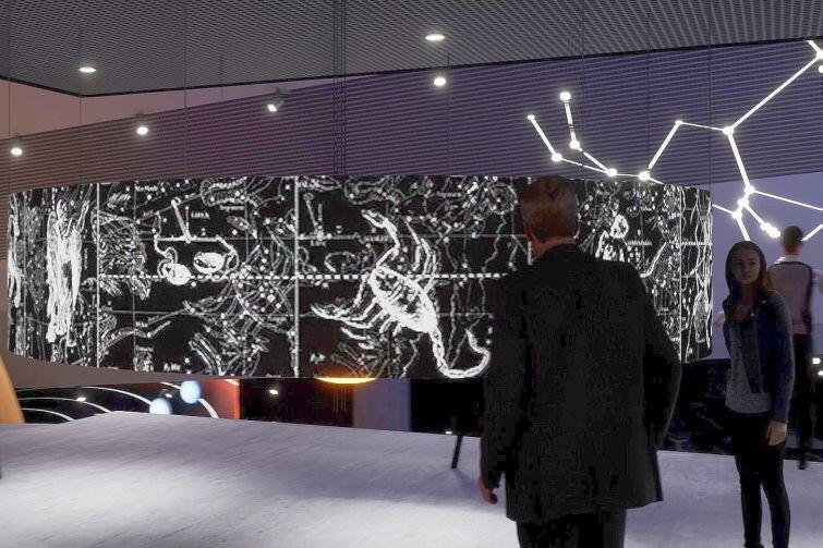 Wizualizacja wnętrza planetarium