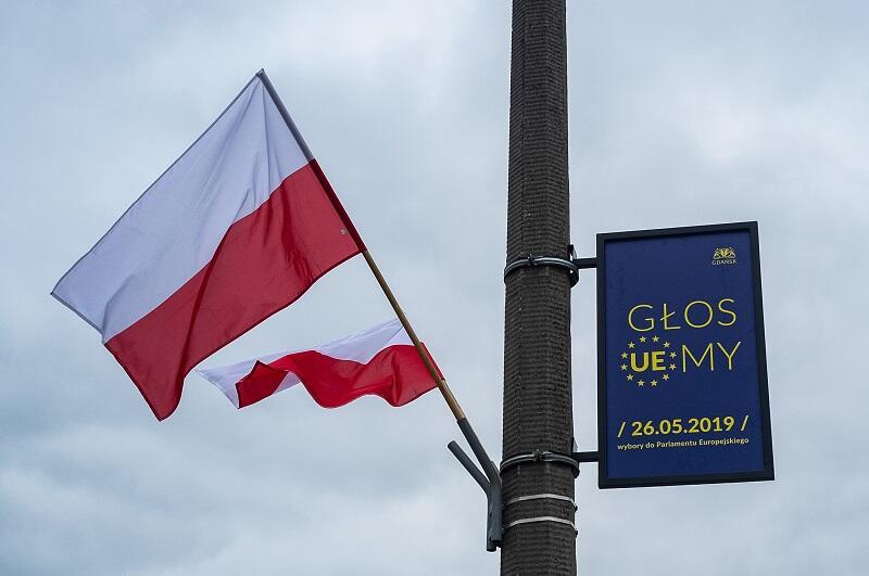 Kampania samorządowa promująca udział w wyborach do Parlamentu Europejskiego w przestrzeni Gdańska