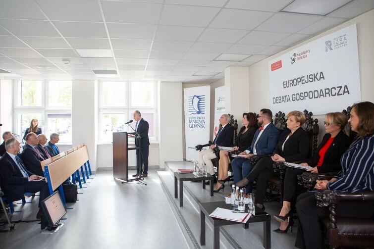 Europejska Debata Gospodarcza w Wyższej Szkole Bankowej w Gdańsku zorganizowana przez organizacje przedsiębiorców pomorskich