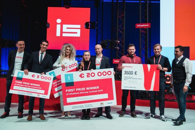 Zwycięskie grono Startup Contest Infoshare`2019