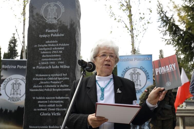 Maria Wieloch podkreślała w piątek, że o zbrodni w Ponarach nadal wie zbyt mało Polaków