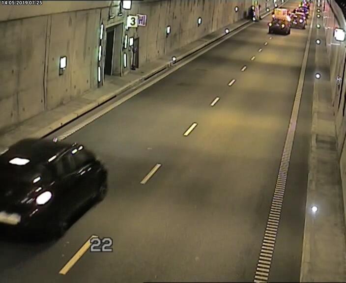 Poranny wypadek w Tunelu pod Martwą Wisłą