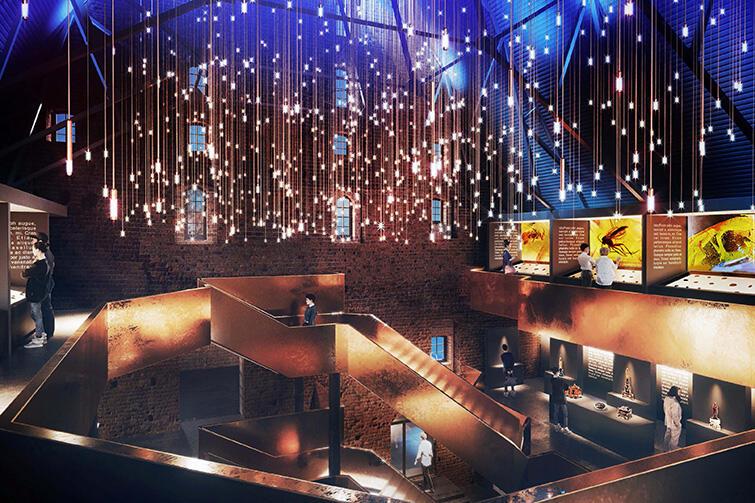 A to już wizualizacja przestrzeni dla nowego Muzeum Bursztynu