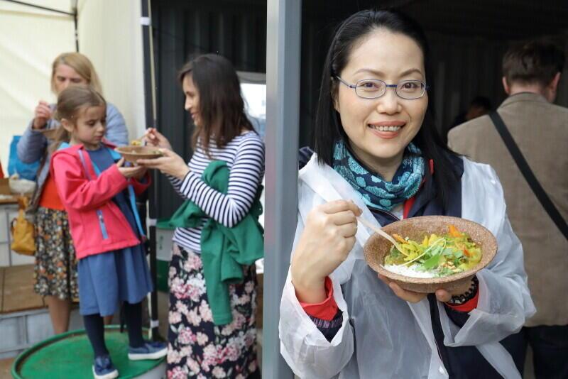 Tajskie żółte curry z ryżem to danie serwowane w ramach tegorocznej kuchni społecznej Dnia Różnorodności w Gdańsku