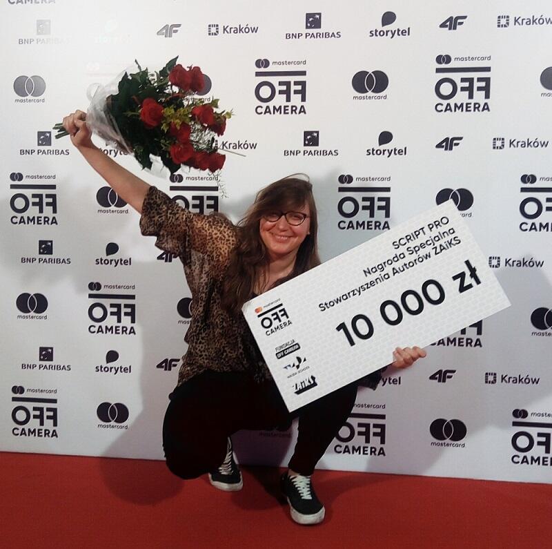 Elżbieta Benkowska odebrała nagrodę 1 maja 2019 podczas uroczystej gali na festiwalu Mastercard Off Camera w Krakowie