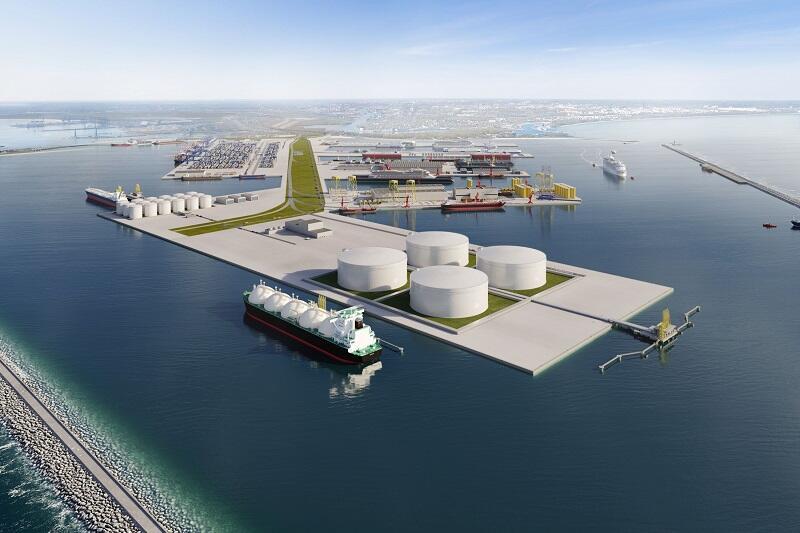 Planowany terminal LNG i elektrownia w Porcie Centralnym