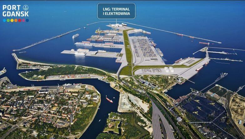 Port Centralny to ok. 1400 ha akwenu i 410 ha zalądowionej powierzchni