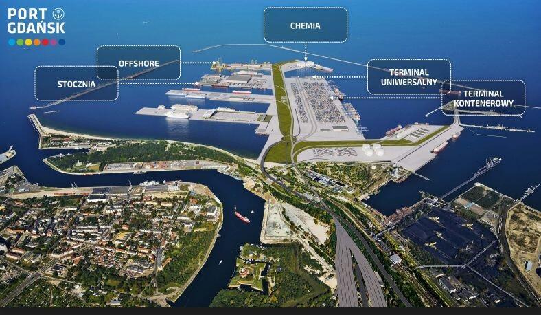 Powstać mają m.in. dwa terminale kontenerowe, terminal offshore i gazowy (LNG), przestrzeń dla stoczni i statków pasażerskich