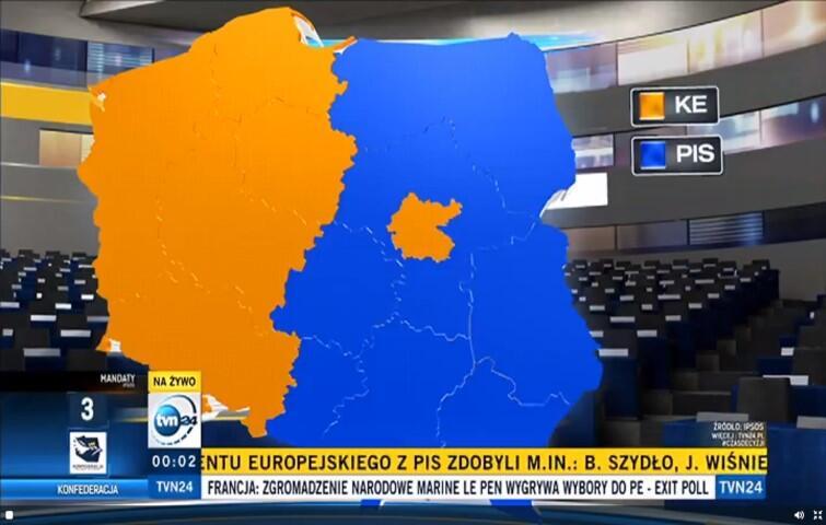 Tak wygląda mapa Polski po wyborach do Parlamentu Europejskiego