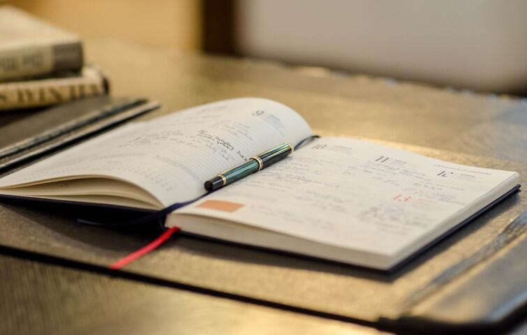 Osobisty kalendarz prezydenta Adamowicza otwarty na dniu 13 stycznia 2019 roku
