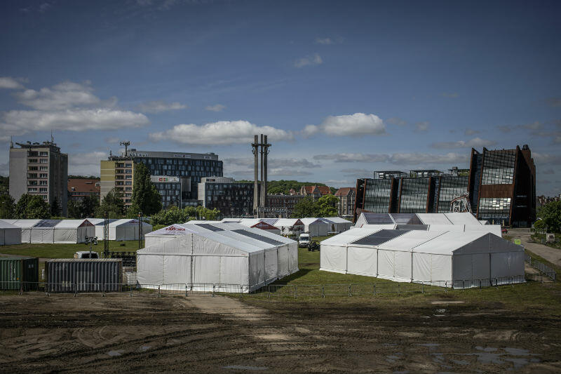 Strefa Społeczna to 13 namiotów ustawionych przy Europejskim Centrum Solidarności