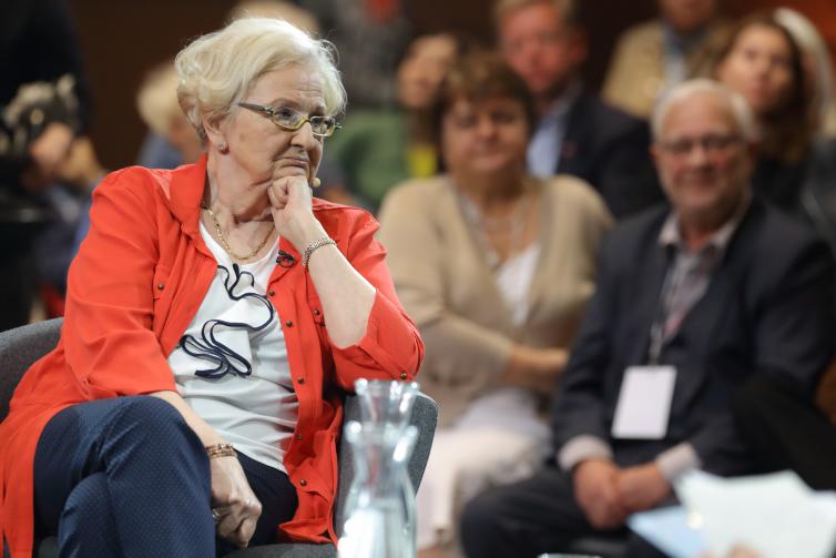 Prof. Ewa Łętowska w czasie gdańskiej debaty