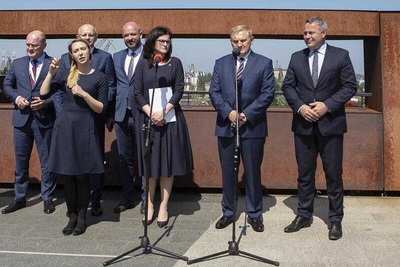 Spotkanie dotyczące Unii Metropolii Polskich odbyło się na tarasie widokowym Europejskiego Centrum Solidarności