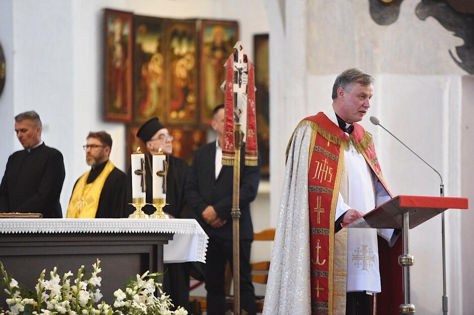Poniedziałkowej modlitwie ekumenicznej przewodniczył ks. Ireneusz Bradtke