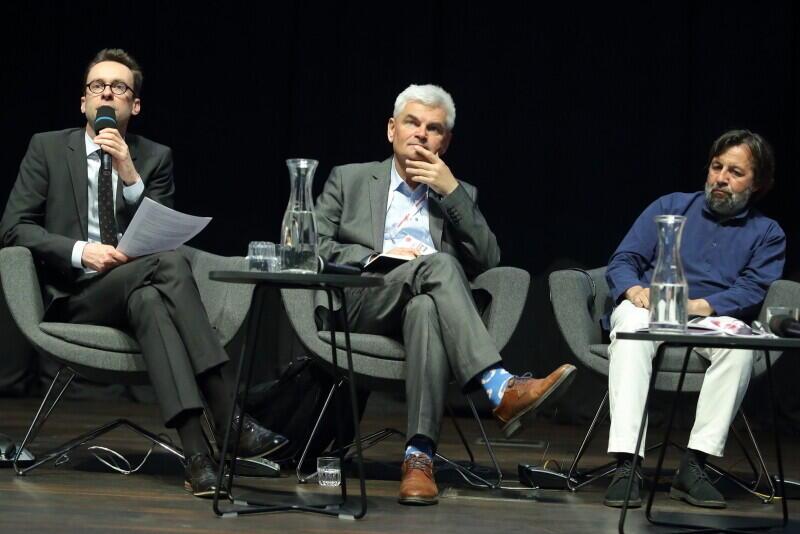 Od lewej: Jacek Kołtan, Ewin Bendyk, Krzysztof Czyżewski