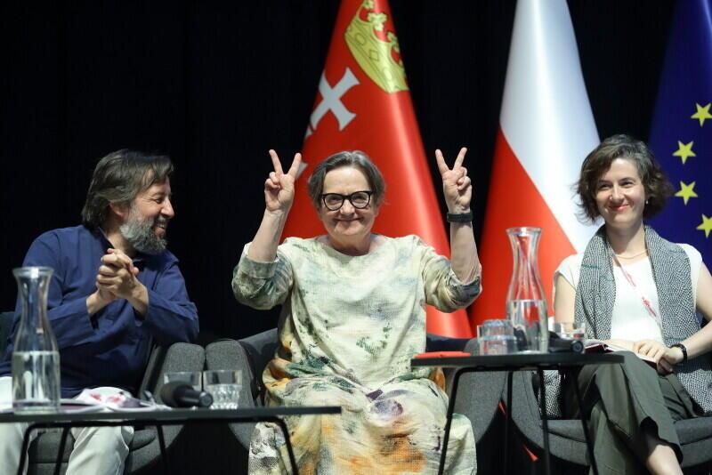 Od lewej: Krzysztof Czyżewski, Agnieszka Holland, Karolina Wigura