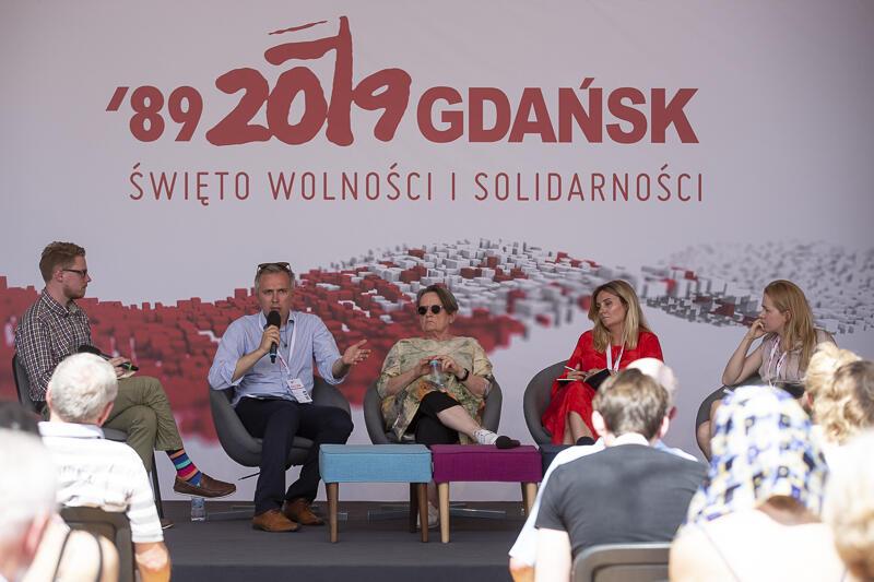 W debacie udział wzięli: Agnieszka Holland, Wojciech Przybylski, Maia Mazurkiewicz, Anna Gielewska i Piotr Górski