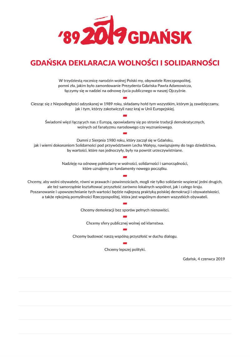 deklaracja po polsku mala