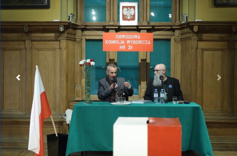 Spotkanie z Mieczysławem Abramowiczem poprowadził Tomasz Olszewski