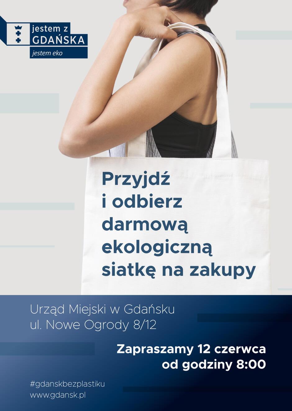 Na mieszkańców czeka 2000 bezpłatnych, ekologicznych toreb oznakowanych logo kampanii Gdańsk bez plastiku