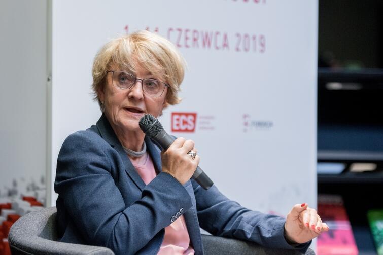 Danuta Hübner w sobotę, 8 czerwca, była gościem Rozmowy na temat: Czy demokracja obroni się sama?