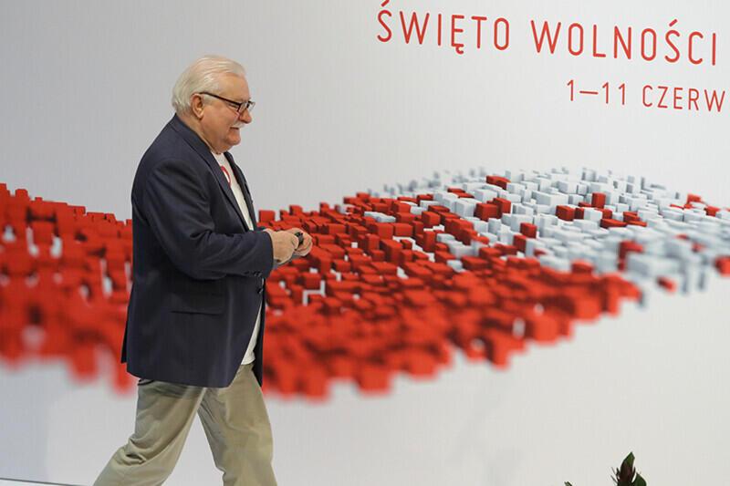 Lech Wałęsa podczas obchodów Święta Wolności i Solidarności