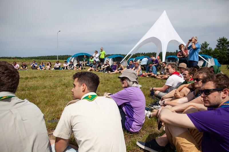 Pole, na którym powstanie miasteczko europejskiego jamboree na Wyspie Sobieszewskiej. To mniej więcej ten sam teren, na którym znajdowało się miasteczko ubiegłorocznego zlotu w 100-lecie ZHP