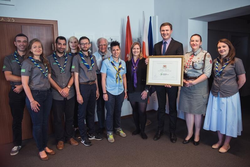 Z przedstawicielami i przedstawicielkami WOSM i WAGGGS, spotkał się Piotr Grzelak, z-ca prezydenta Gdańska - nasze miasto jest gospodarzem Europejskiego Jamboree 2020