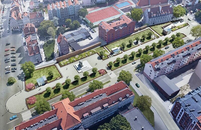 Tak będzie wyglądało Podwale Staromiejskie po wybudowaniu parkingu podziemnego