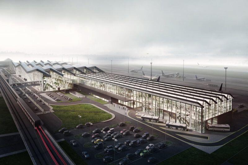 Wizualizacja przyszłego terminala T2 w Porcie Lotniczym im. L. Wałęsy w Gdańsku