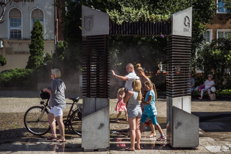 Kurtyna wodna na Targu Węglowym