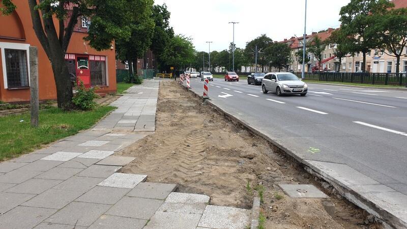 Kolejny odcinek drogi rowerowej powstaje we Wrzeszczu, wzdłuż al. Legionów