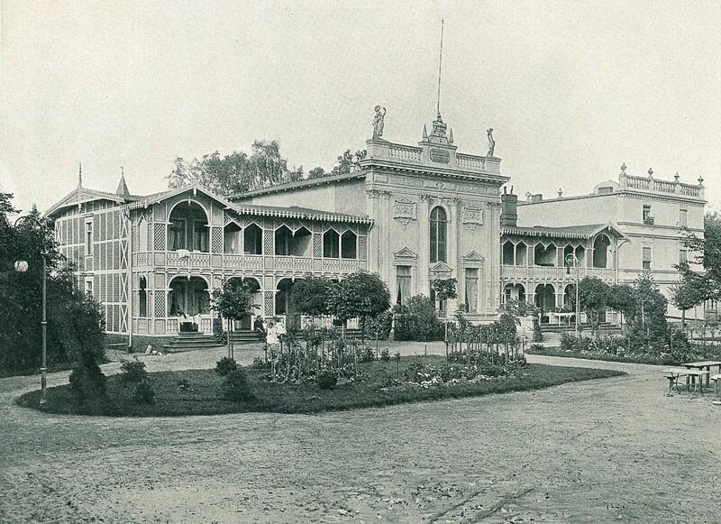 Dom Zdrojowy (Kurhaus) w Gdańsku Brzeźnie na początku XX wieku