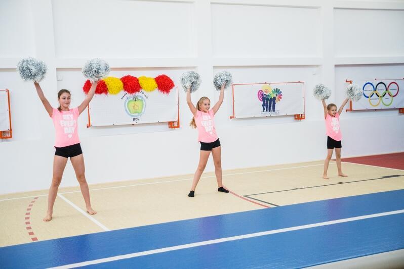 Szkoła Podstawowa nr 35. Otwarcie sali gimnastycznej po remoncie - październik 2018 r.