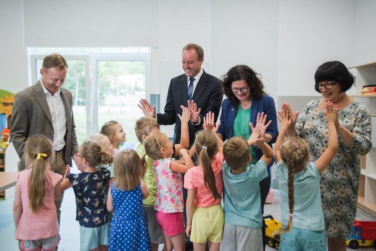W żłobku-przedszkolu 'Pozytywka' najmłodsi gdańszczanie zachwycili dorosłych swoją otwartością i pozytywną energią