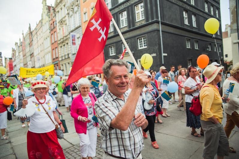 Ubiegłoroczna, pierwsza Parada Seniorów w Gdańsku
