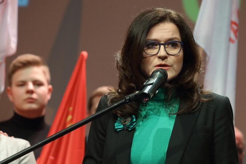 Aleksandra Dulkiewicz jest prezydentem Gdańska od marca tego roku. Nz. podczas wieczoru wyborczego