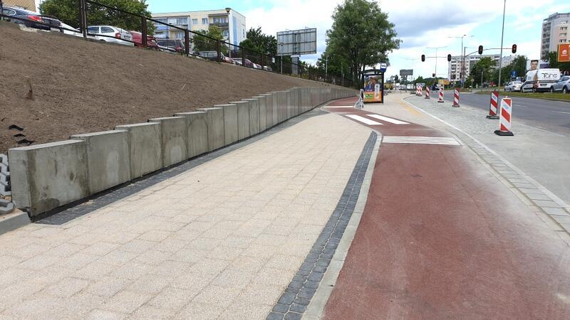 Wzdłuż przychodni Morena  wybudowano ponad 100-metrowy odcinek drogi rowerowej