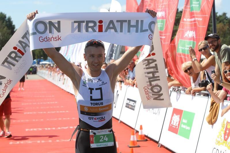 W ciagu ośmiu lat edycji Triathlon Gdańsk, Bartosz Banach (na zdj.) aż trzy razy stawał na podium.
